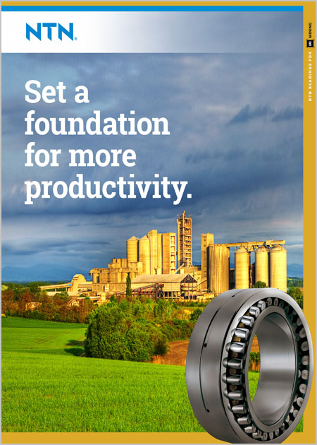 NTN Bearings for Cement Industry Brochure cover image