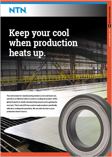 NTN Bearings for Cooling Beds Brochure cover image