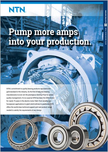 NTN Bearings for Electric Motors Brochure cover image