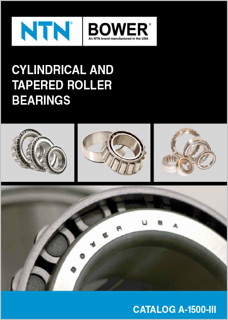 NTN Cylindrical and Tapered Roller Bearings Catalog cover image