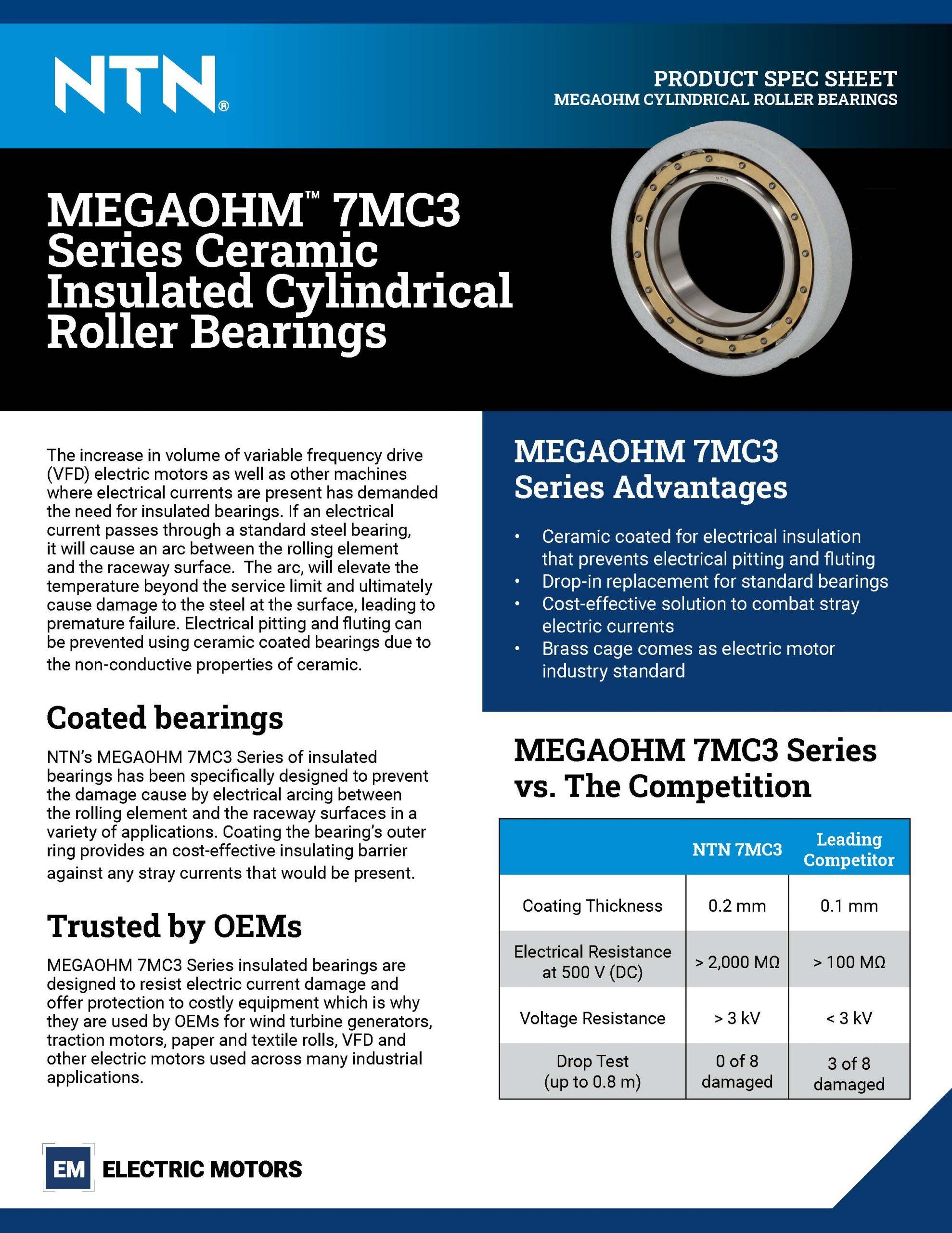 NTN-MEGAOHM CRB-ElectricMotor-SpecSheet-21NTNMOCRB_Page_1