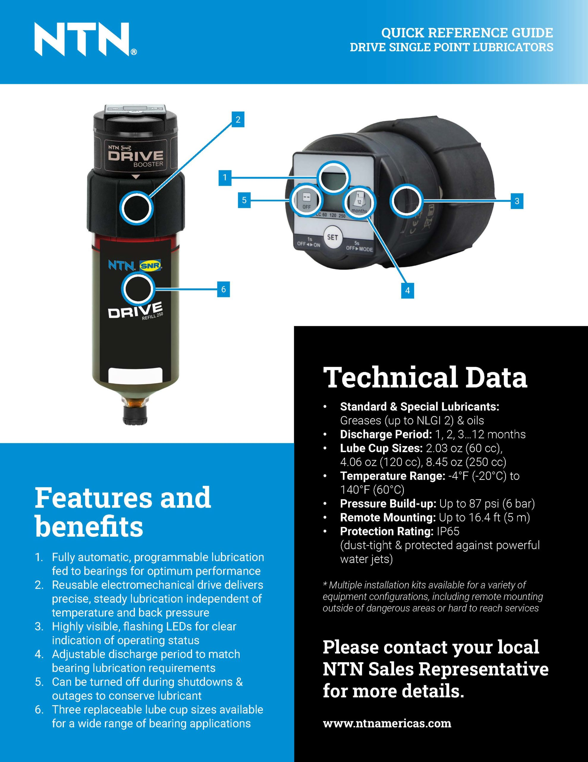 NTN Drive Single Point Lubricators