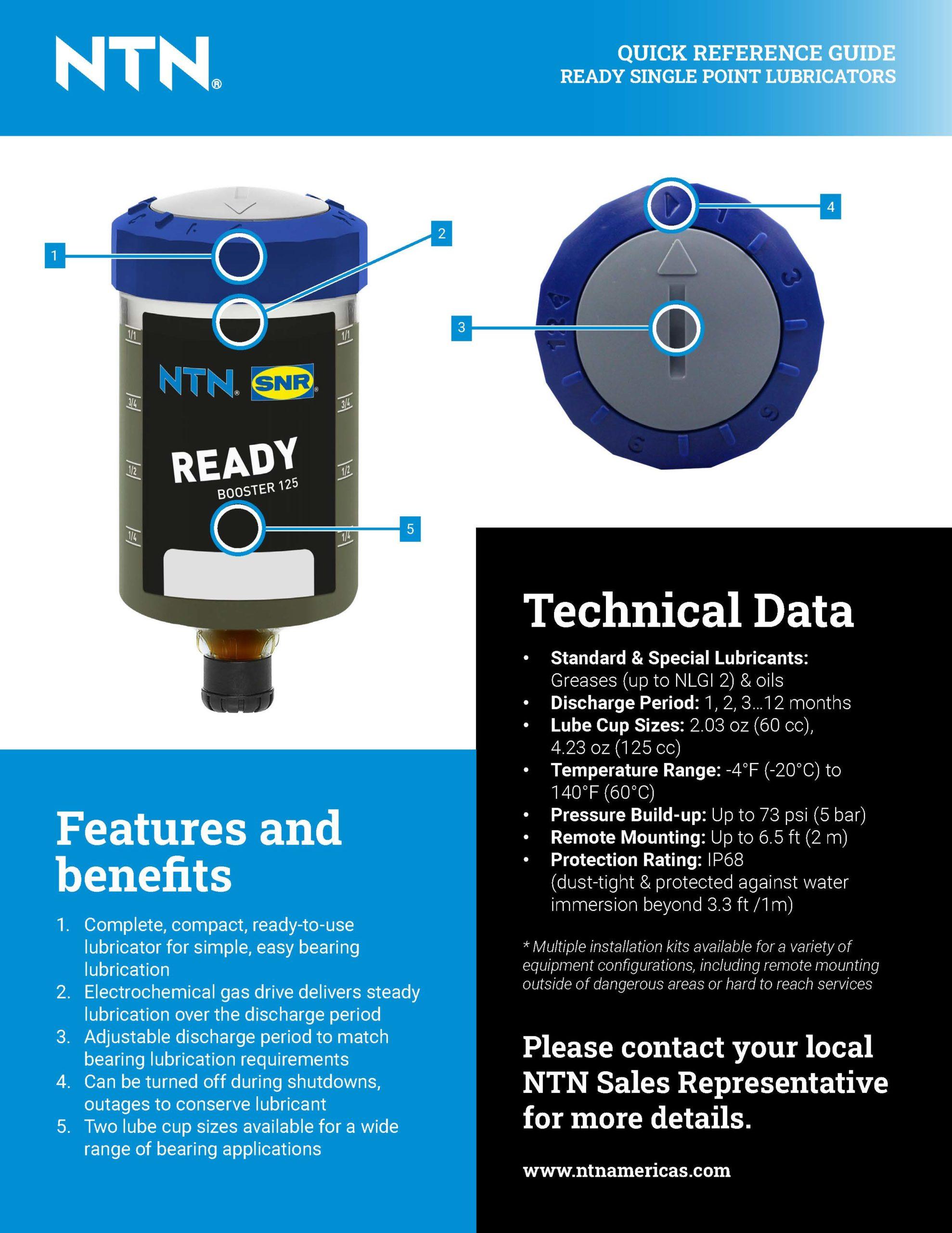 NTN Ready Single Point Lubricators